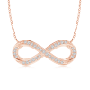 Lab Grown Diamond Sideways Infinity Necklace
