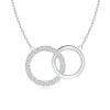 Lab Grown Diamond Intertwined Circle Necklace