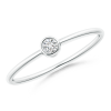Solitaire Lab Grown Round Diamond Stackable Ring