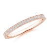 Trio Pave Lab Grown Diamond Eternity Wedding Band