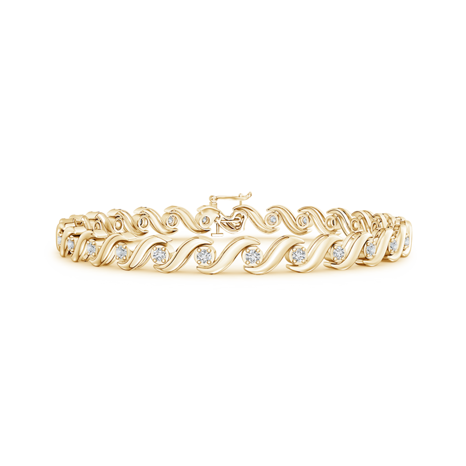 Lab Grown Diamond S Swirl Link Tennis Bracelet - Main Image