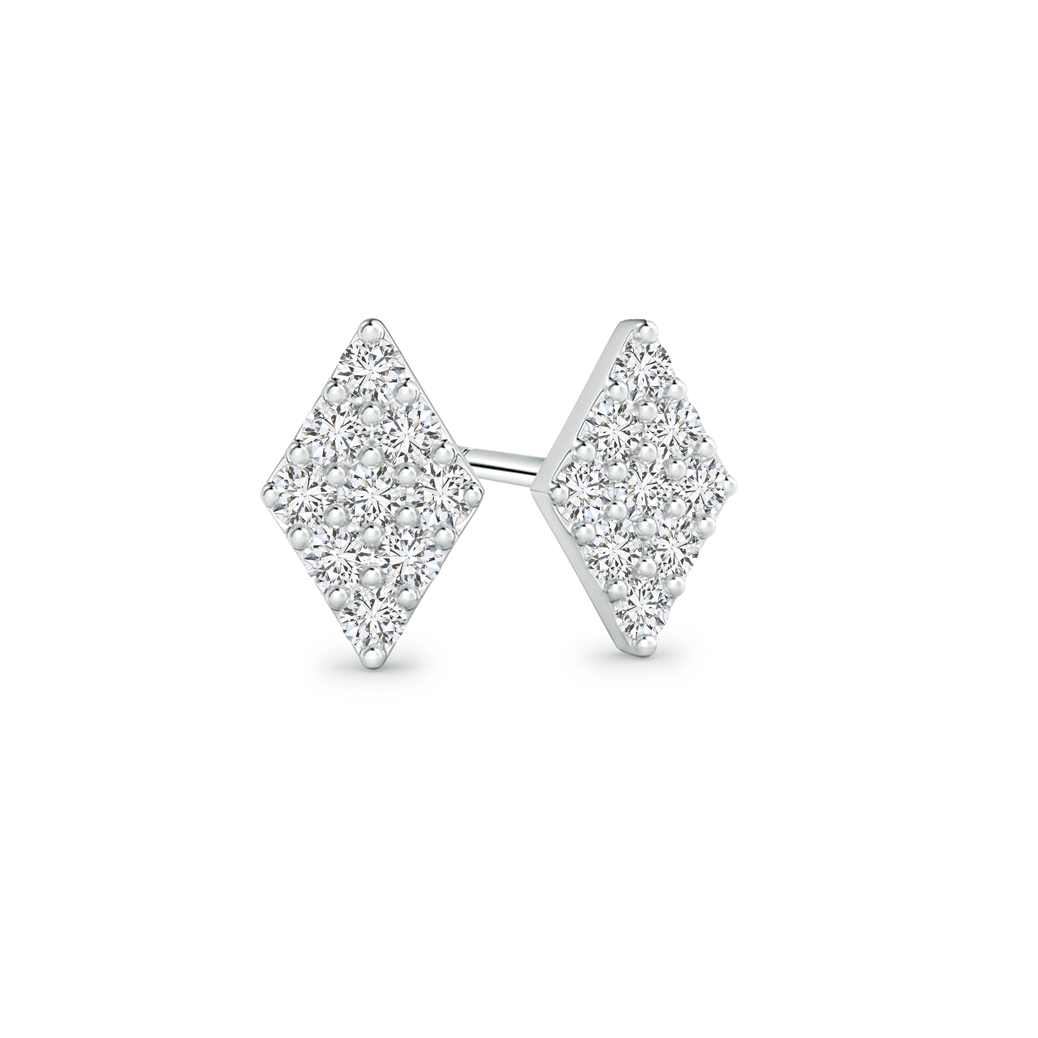 Composite Lab Grown Diamond Kite Shaped Stud Earrings - Main Image