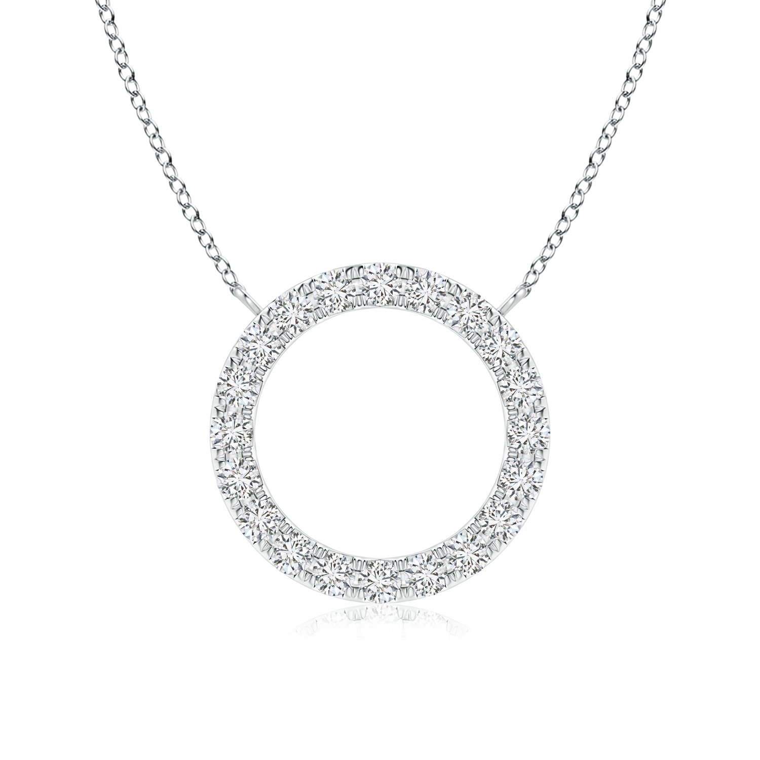 Lab Grown Diamond Open Circle Necklace - Main Image