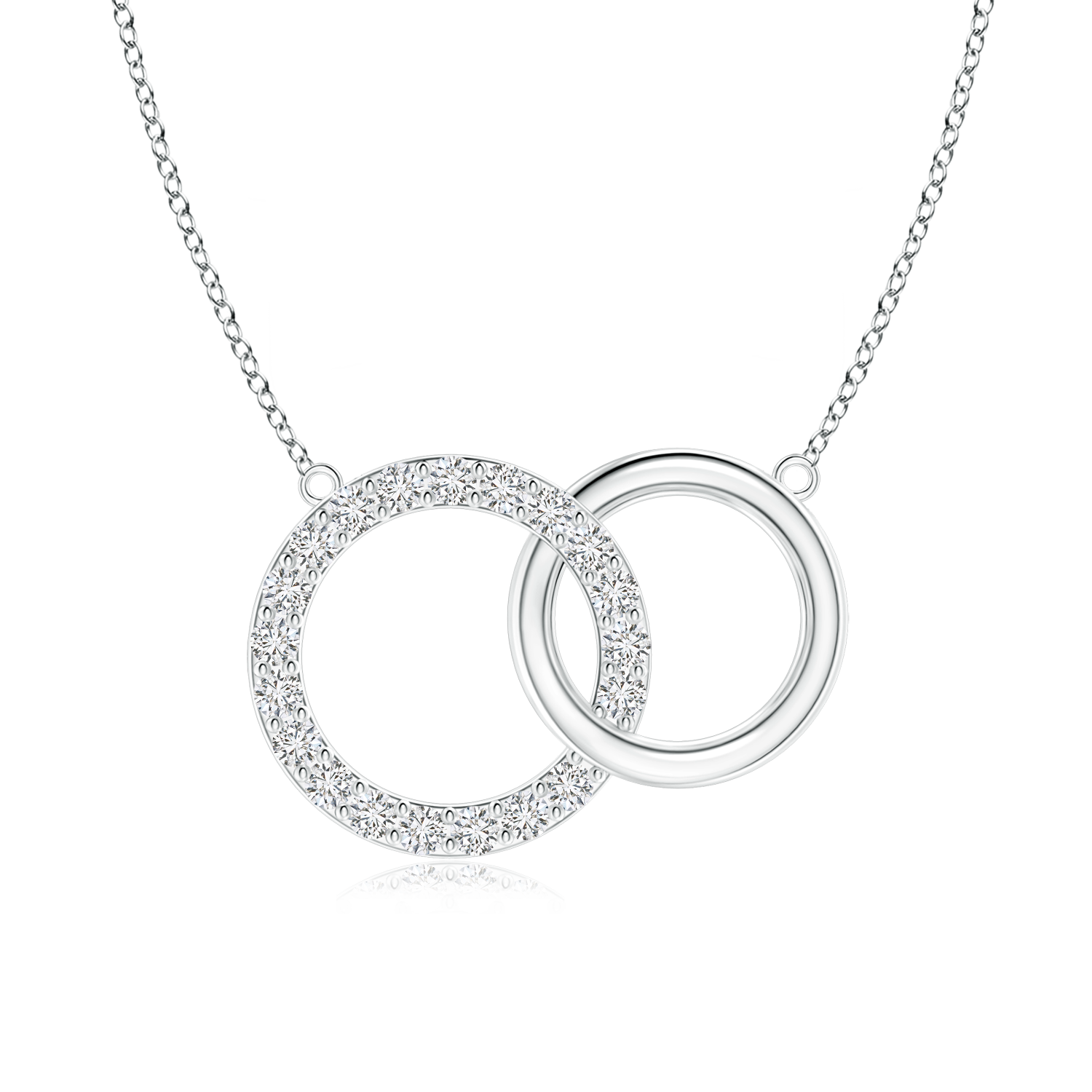 Lab Grown Diamond Intertwined Circle Necklace - Main Image