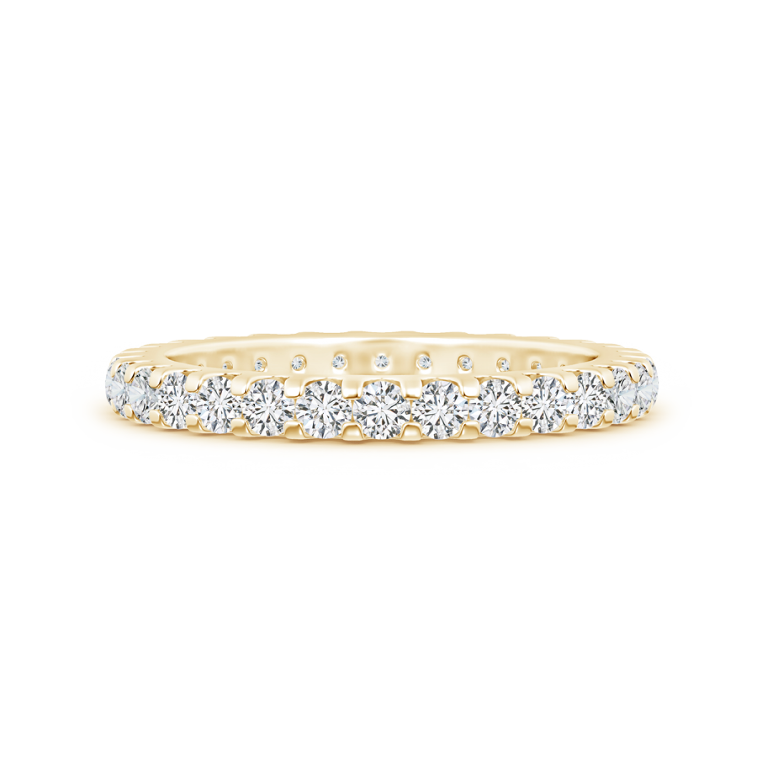 Shared Prong Set Lab Grown Diamond Eternity Wedding Band - Main Image