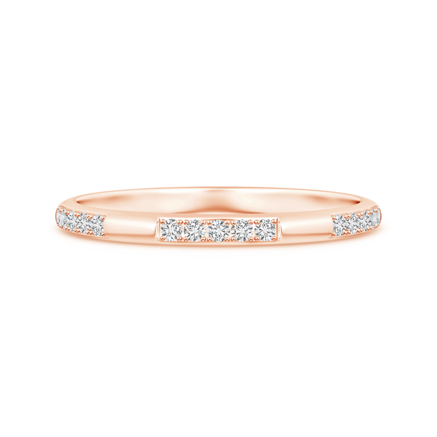 Pave-Set Semi Eternity Lab Grown Diamond Wedding Band for Women - Main Image