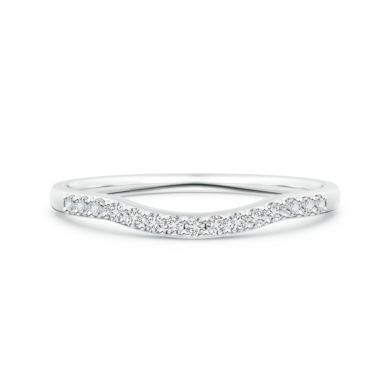 Lab Grown Diamond Contour Wedding Band - Main Image