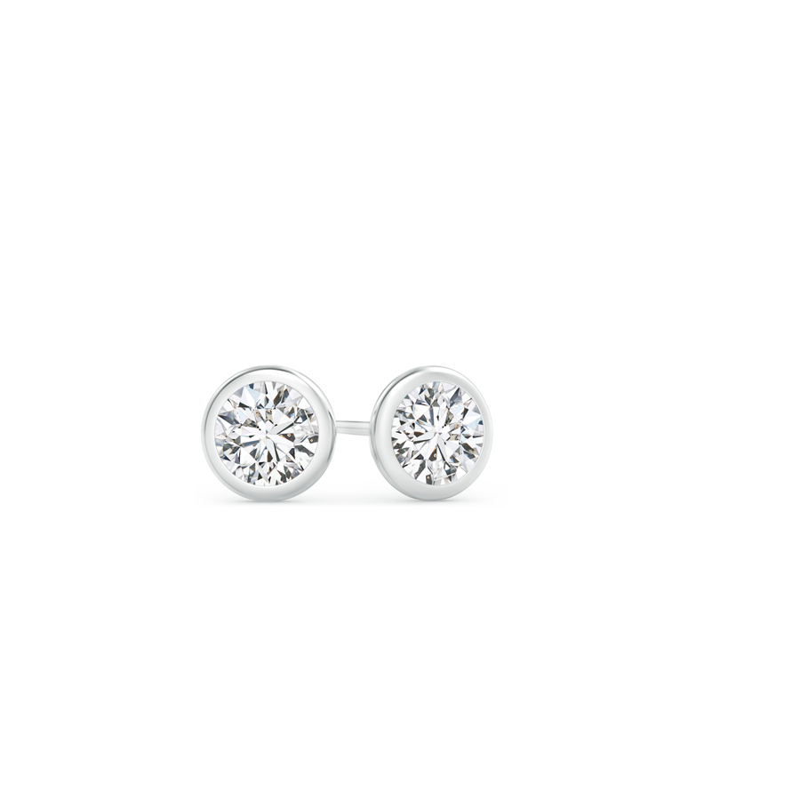 bezel earrings stud weighing set products carat diamond baguette