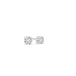 Basket Set Round Lab Grown Diamond Stud Earrings