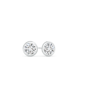 Martini Setting Bezel Set Lab Grown Diamond Stud Earrings