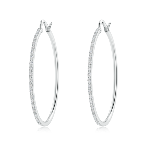 Lab Grown Diamond Latch Hoop Earrings