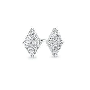 Composite Lab Grown Diamond Kite Shaped Stud Earrings