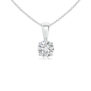 Prong Set Round Lab Grown Diamond Solitaire Pendant