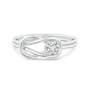 Solitaire Lab Grown Diamond Infinity Knot Ring