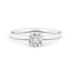 Classic Round Lab Grown Diamond Solitaire Ring