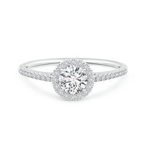Classic Lab Grown Diamond Halo Engagement Ring