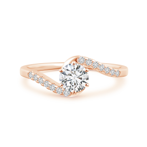 Prong Set Lab Grown Diamond Bypass Ring with Accents