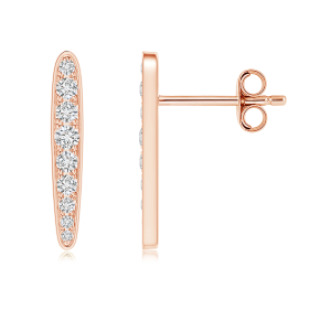 Pave Set Lab Grown Diamond Spear Earrings