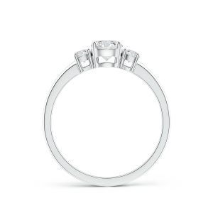 Classic Lab Grown Diamond Three Stone Engagement Ring