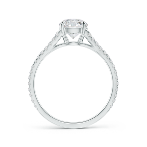 Lab Grown Diamond Split Shank Ring with Four-Prong Setting