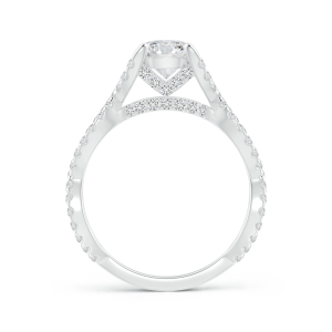 Solitaire Round Lab Grown Diamond Crossover Ring