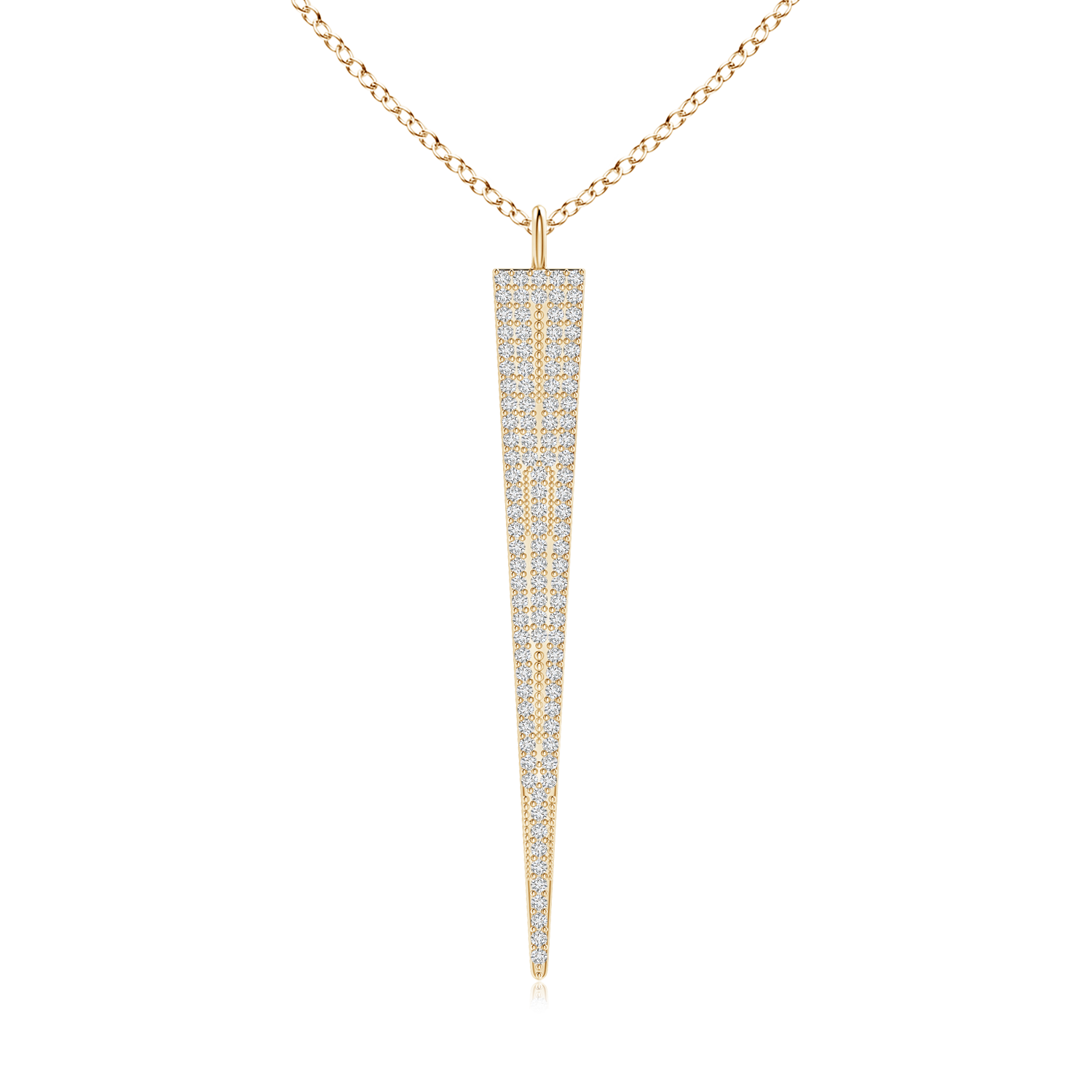 Lab Grown Diamond Long Triangle Necklace