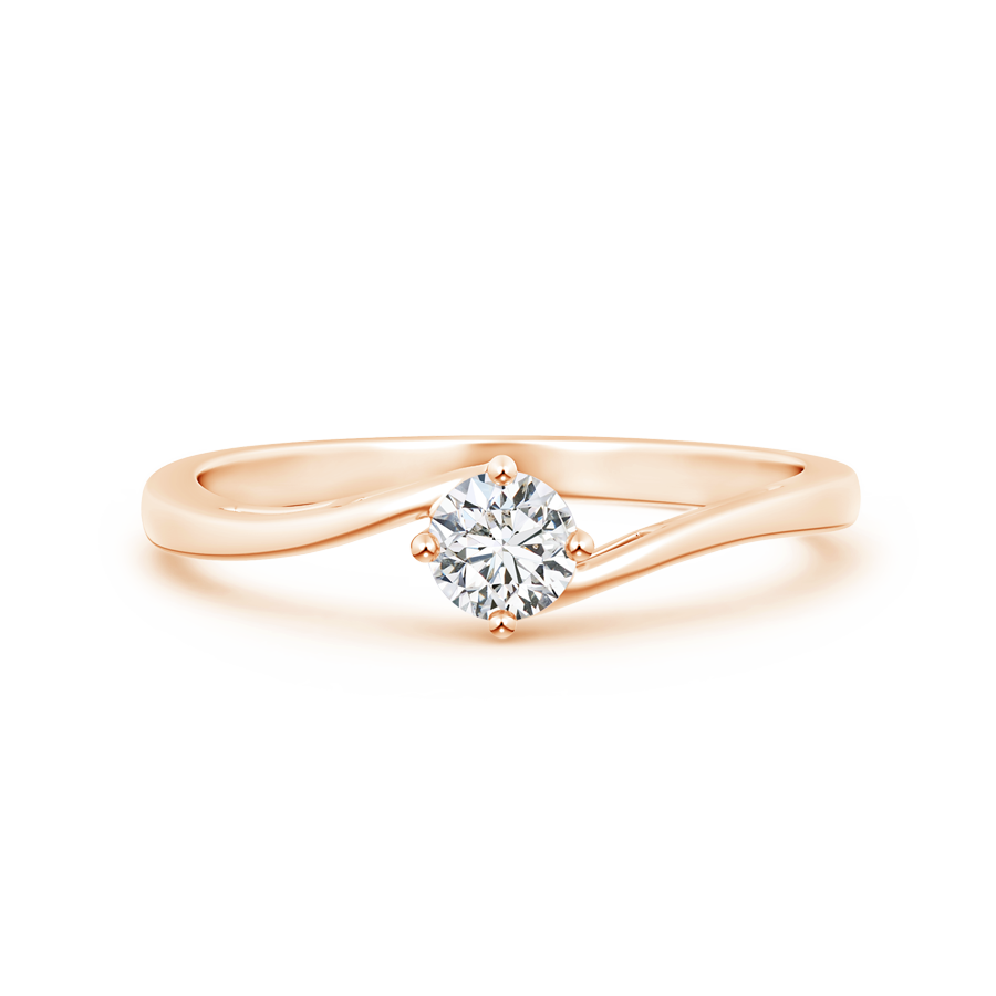 Lab Grown Diamond Solitaire Ring with Twisted Shank